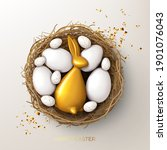 happy easter holiday card...   Shutterstock .eps vector #1901076043