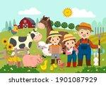 vector illustration cartoon of... | Shutterstock .eps vector #1901087929