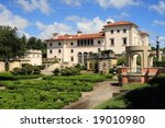 Magnificent Mansion,Vizcaya on Biscayne bay - stock photo