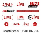 set of live streaming icons.... | Shutterstock .eps vector #1901107216