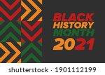 black history month. african... | Shutterstock .eps vector #1901112199