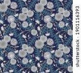 Raster Floral Seamless Pattern...