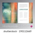 abstract vector modern flyer  ... | Shutterstock .eps vector #190112669