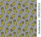 pineapple seamless pattern.... | Shutterstock .eps vector #1901152513