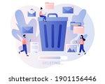delete concept. tiny people... | Shutterstock .eps vector #1901156446