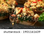 Stuffed Mushrooms With Spinach  ...