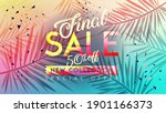 final sale banner. trendy... | Shutterstock .eps vector #1901166373