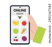 online store concept. person... | Shutterstock .eps vector #1901167183