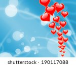 hearts on sky showing romantic... | Shutterstock . vector #190117088