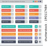 flat call to action web buttons ...