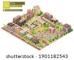 vector isometric city or town...   Shutterstock .eps vector #1901182543
