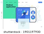 medical insurance web page... | Shutterstock .eps vector #1901197930