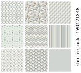 seamless geometric hipster... | Shutterstock . vector #190121348