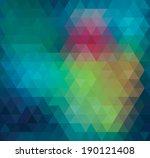 geometric triangle neon... | Shutterstock . vector #190121408