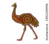 emu isolated on white... | Shutterstock .eps vector #1901239096