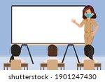 thai student and teacher back... | Shutterstock .eps vector #1901247430