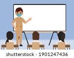 thai student and teacher back... | Shutterstock .eps vector #1901247436
