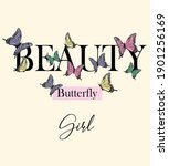 Beauty Butterfly For T Shirt...