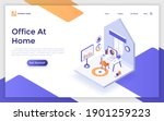landing page template with...   Shutterstock .eps vector #1901259223