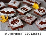 Halloween Chocolate Brownies
