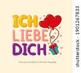 "inscription ""i love you"" in... | Shutterstock .eps vector #1901267833"