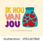 "inscription ""i love you"" in... | Shutterstock .eps vector #1901267860"