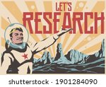 let's research  retro space...   Shutterstock .eps vector #1901284090