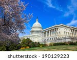 Stock photo us capitol building in spring washington dc united states 190129223