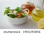 green salad with onion  parsley ...   Shutterstock . vector #1901292856