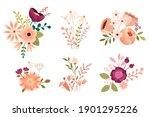 set of flower illustrations for ...   Shutterstock .eps vector #1901295226