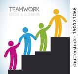 teamwork design over gray... | Shutterstock .eps vector #190131068