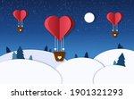 Romantic Illustration In Winter ...