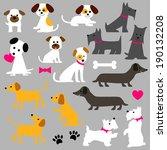 dog clip art | Shutterstock .eps vector #190132208