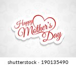 elegant creative background... | Shutterstock .eps vector #190135490