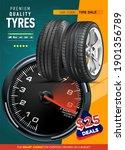 wheel tire tracks background... | Shutterstock .eps vector #1901356789