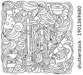science coloring page... | Shutterstock .eps vector #1901369680