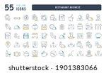 restaurant business. collection ... | Shutterstock .eps vector #1901383066
