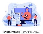 broadcasting with journalist or ... | Shutterstock .eps vector #1901410963