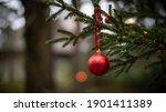 Red Ball Fir Tree Decoration...