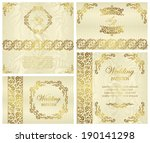 stylish cards with a floral... | Shutterstock .eps vector #190141298