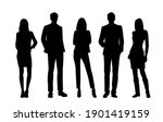 vector silhouettes of  men and... | Shutterstock .eps vector #1901419159