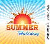 abstract summery illustration... | Shutterstock .eps vector #190143038
