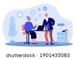 senior couple using laptop... | Shutterstock .eps vector #1901435083
