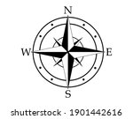 compass icon vector on white...