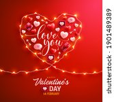 happy valentine's day poster or ... | Shutterstock .eps vector #1901489389