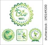 eco labels bio template.... | Shutterstock .eps vector #190149200