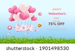 valentine's day sale nature... | Shutterstock .eps vector #1901498530