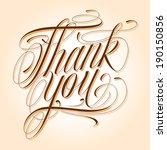 handmade calligraphy lettering... | Shutterstock .eps vector #190150856