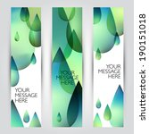 vector banners set. abstract... | Shutterstock .eps vector #190151018