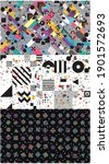 3 sets of pop and colorful... | Shutterstock .eps vector #1901572693